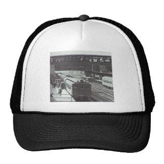 Woodside Station with Trains Long Island Railroad Trucker Hat