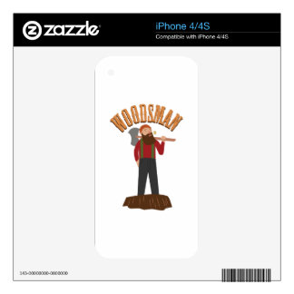 Woodsman Decals For iPhone 4S