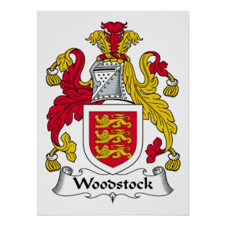 Woodstock Family Crest Posters