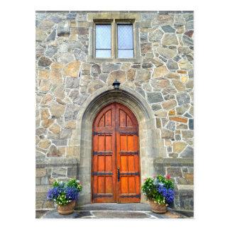 Woodstock, Vermont, Church Doors Postcard