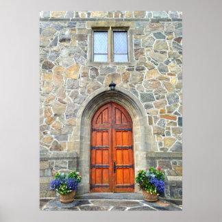 Woodstock, Vermont, Church Doors Poster