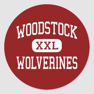 Woodstock - Wolverines - High - Woodstock Georgia Classic Round Sticker