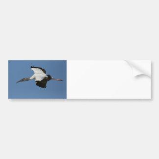 Woodstork in Flight Car Bumper Sticker