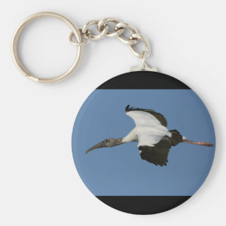 Woodstork in Flight Keychains