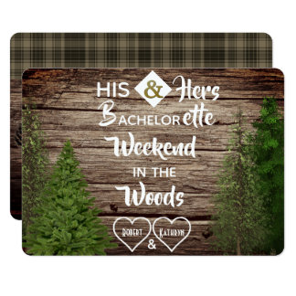 Woodsy Bachelor/Bachelorette Combined Party Invite Zazzle_invitation2