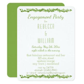 Woodsy Elegance   Wedding Vine Engagement Party Card