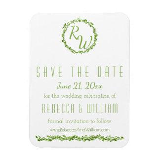 Woodsy Elegance | Wedding Vine | Save The Date Magnet