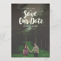 Woodsy Overlay Save the Date
