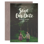 Woodsy Overlay Save the Date Card