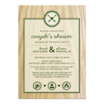 Woodsy Wedding & Glamping Couple's Shower Card