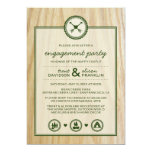 Woodsy Wedding & Glamping Engagement Party Card