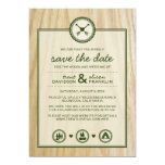 Woodsy Wedding & Glamping Save the Dates 5x7 Paper Invitation Card