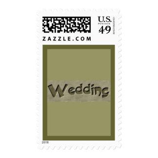 Woodsy Wedding Postage
