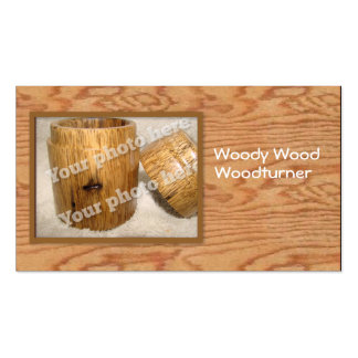 Woodturner Custom Photo Business Card Template