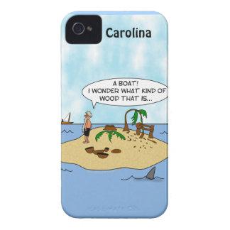 Woodturner Island Cartoon Custom iphone 4g Case