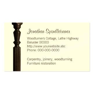 Woodturner, tarjeta de visita del restaurador de l