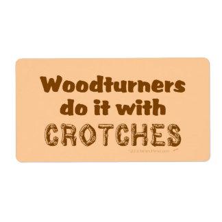 Woodturners divertido lo hace con las entrepiernas etiqueta de envío