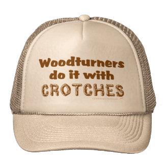 Woodturners divertido lo hace con las entrepiernas gorro de camionero