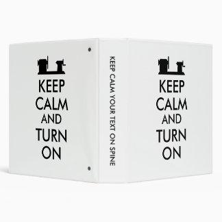 Woodturning Gift Keep Calm and Turn On  Lathe Binder