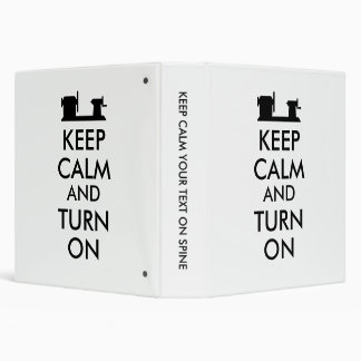 Woodturning Gift Keep Calm and Turn On  Lathe Binders
