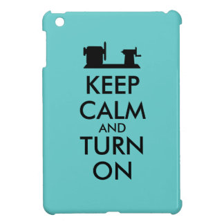 Woodturning Gift Keep Calm and Turn On  Lathe Case For The iPad Mini