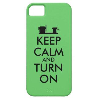 Woodturning Gift Keep Calm and Turn On  Lathe iPhone SE/5/5s Case