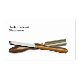 Woodturning Tools Crossed Roughing Gouge and Skew Business Card