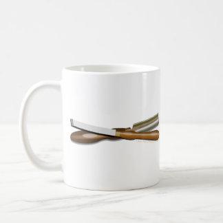 Woodturning Tools Crossed Roughing Gouge and Skew Coffee Mug