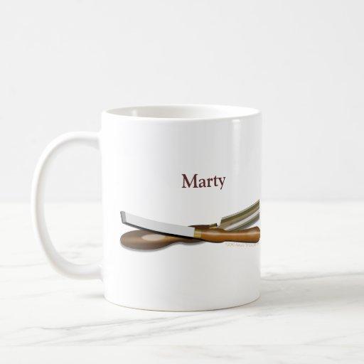 Woodturning Tools Personalized Gift Mug Basic White Mug