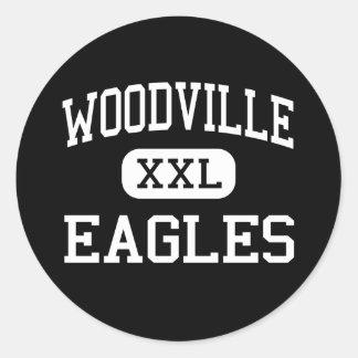 Woodville - Eagles - High School secundaria - Pegatinas Redondas