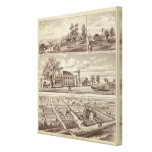 Woodville Hotel, ranches Canvas Print