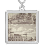 Woodville Hotel, ranches Square Pendant Necklace