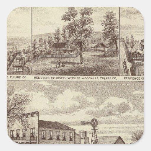 Woodville Hotel, ranches Square Sticker
