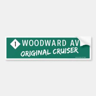 "Woodward Ave ""Original Cruiser"" Bumper Sticker"