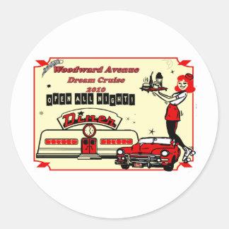 Woodward Avenue Celebration 2010 Classic Round Sticker