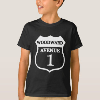 Woodward Avenue Route 1 Sign Woodward Gifts T-Shirt