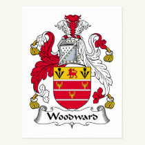 Woodward Family Crest Postcard