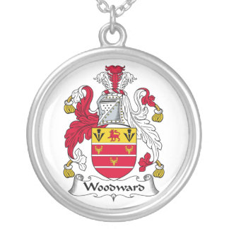 Woodward Family Crest Silver Plated Necklace