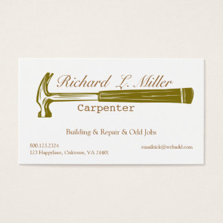 Woodwork Handyman Carpenter Construction Business Card