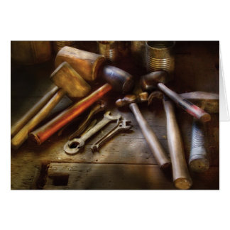 Woodworker - A Collection of Hammers Card