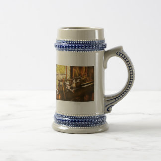 Woodworker - An Old Lathe Beer Stein