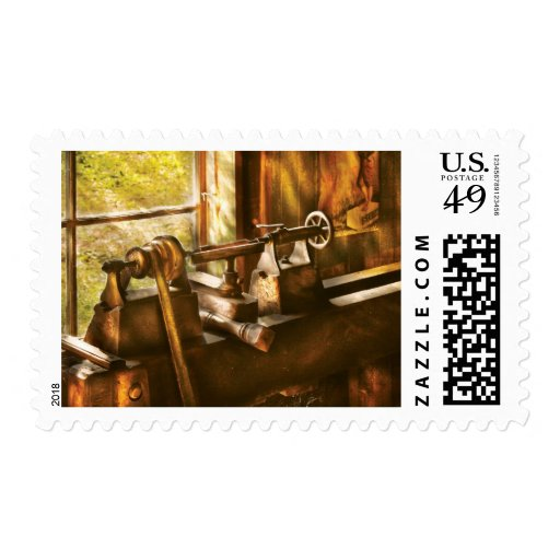 Woodworker - An Old Lathe Postage