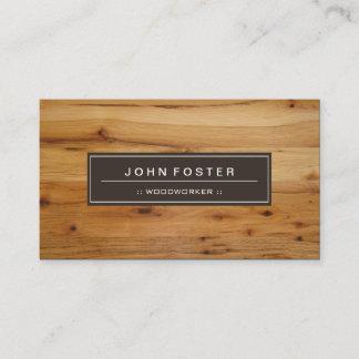 Woodworker - Border Wood Grain Business Card