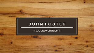 Wood grain business cards templates zazzle woodworker border wood grain business card colourmoves