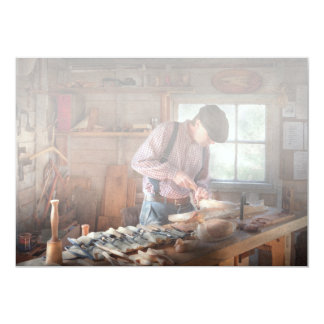 Woodworker - Carving - Carving a duck Card