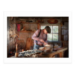 Woodworker - Carving - Carving a duck Postcards