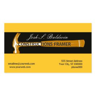 Woodworker Construction Hammer Business Cards