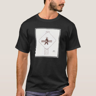 Woodworker Crossing Cartoon T-Shirt (All Colors)