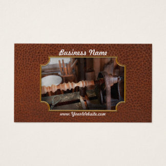 Woodworker - Lathe - Rough cut Business Card