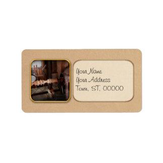 Woodworker - Lathe - Rough cut Label
